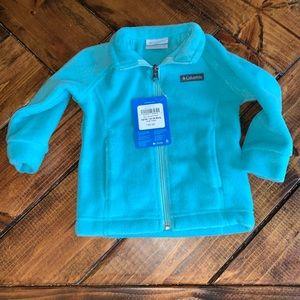 Columbia fleece jacket turquoise size 12-18mths